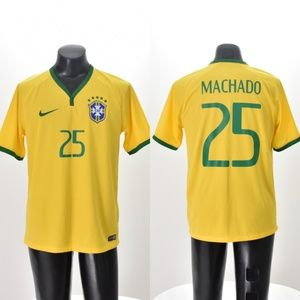 Nike Soccer Football Brazil Jersey Machado #25 L
